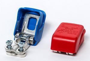 Svorka na baterie samosvorná - rychlovýměnná plus - červená - 2