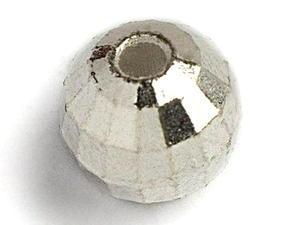 Kulička wolframová fazetovaná 10ks stříbrná- 2,5mm - 2