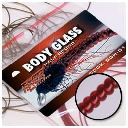 Body Glass Half Round 93 - krvavě rudá - 2