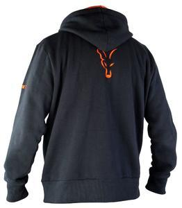 Mikina s kapucí Fox Black & Orange Hoody S - 2