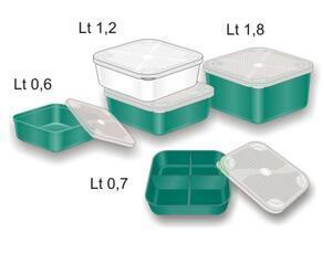 Krabička na nástrahy Stonfo s víčkem 1,2l - zelená - 2