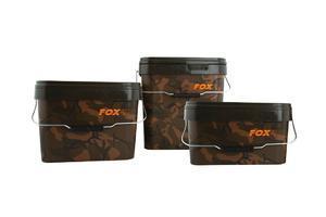 Kbelík s víkem FOX Camo Square bucket 5L - 2