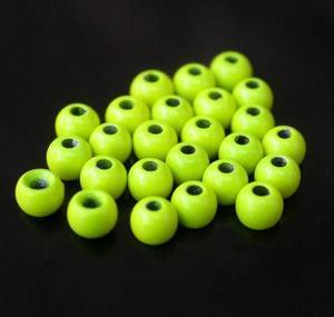 Kulička kovová barvená Bead Head 20ks Fluo Chartreuse - 2,8mm - 3