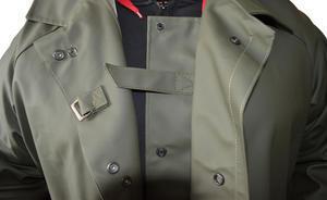 Kabát rybářský lovecký se zvýšeným límcem VINYTOL zelený - XL - 3