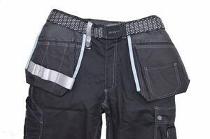 Pracovní kalhoty GWT s kapsami černé - L - 3