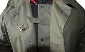 Kabát rybářský lovecký se zvýšeným límcem VINYTOL zelený - XXL - 3