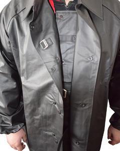 Kabát rybářský lovecký se zvýšeným límcem černý - M - 3