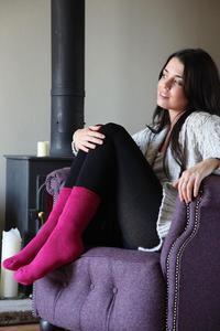 Dámské termo ponožky Heat Holders - malinová - 3