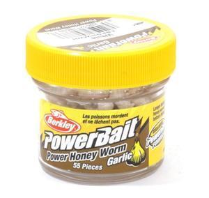 Vosí larvy Berkley PowerBait® Honey Worm Garlic 55ks - bílá česnek - 3