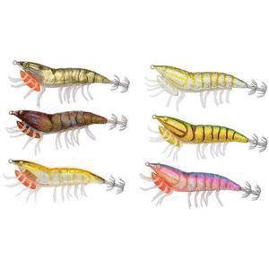 Nástraha kreveta Savage Gear 3D Hybrid Shrimp EGI jig Glitter 9,2cm 21g - Burnt Orange - 4