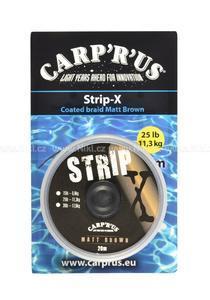 Potahovaná šňůrka Carp´R´Us Strip-X 20m 25lb 11,3kg - 5