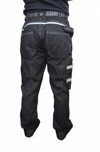 Pracovní kalhoty GWT s kapsami černé - L - 7